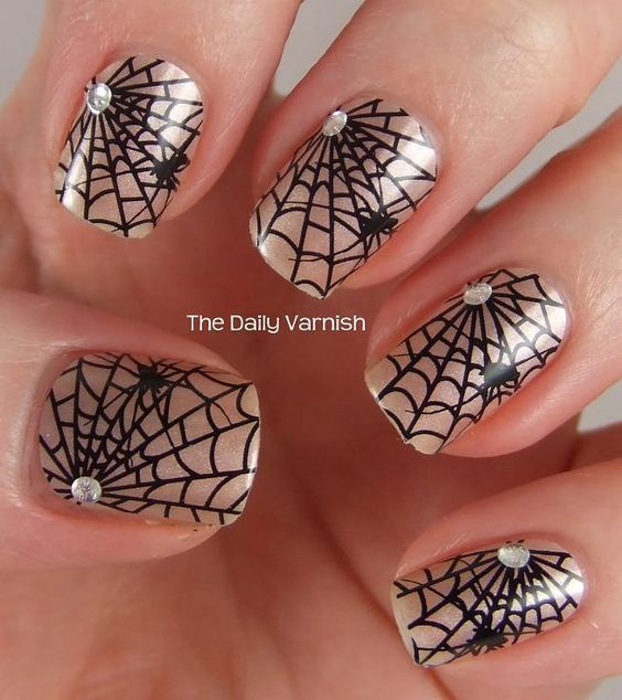 Image result for spiderweb nails (With images) | Halloween ...