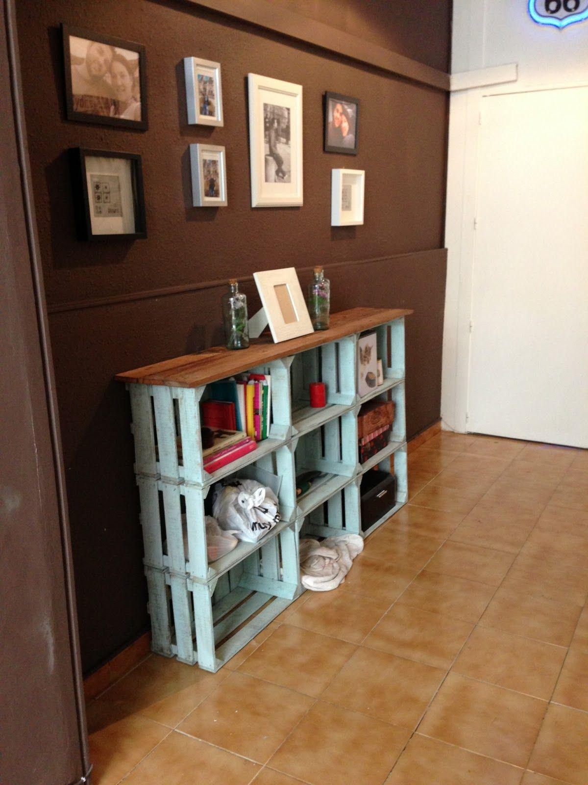 decorando y renovando zapatero cajas fruta - Muebles Con Cajas De Fruta