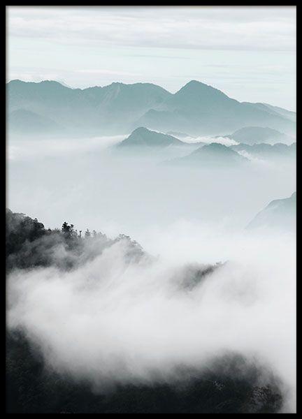 Cloud Mountains, posters in de groep Posters / Afmetingen / 50x70cm bij Desenio AB (8541)