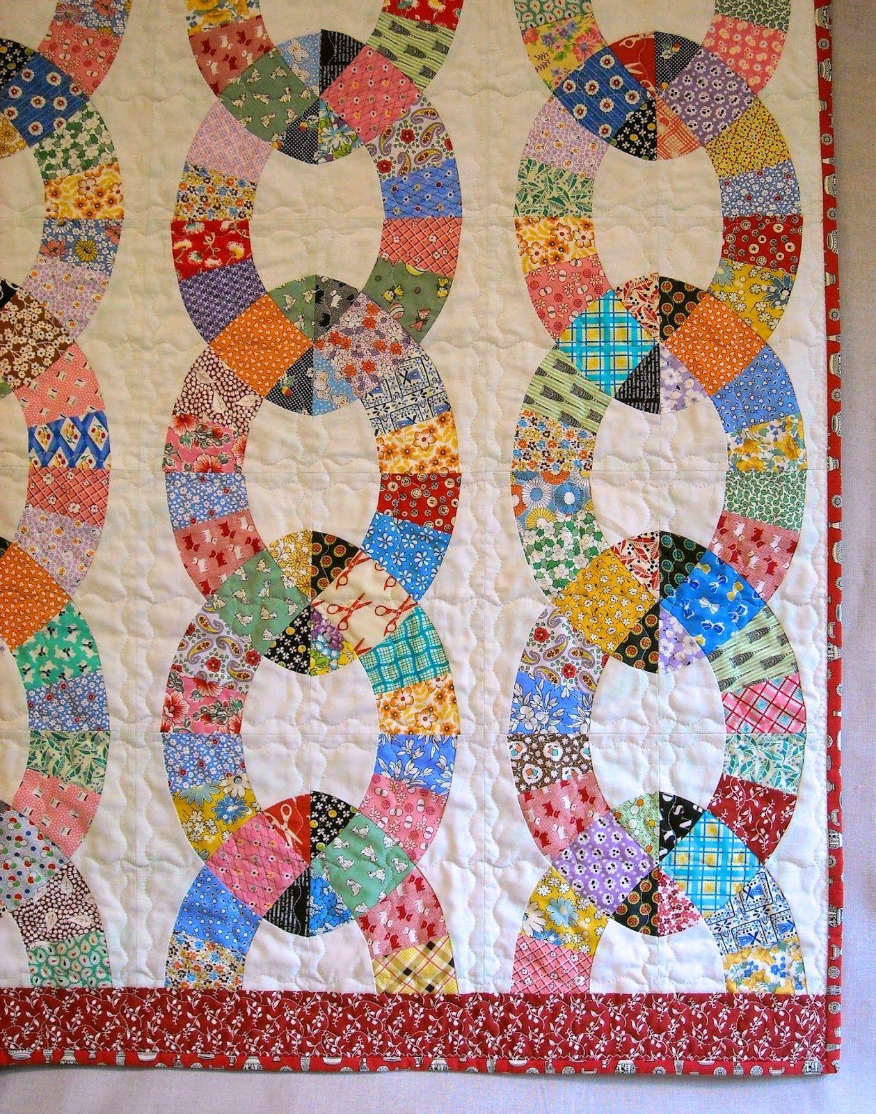 Image result for vintage chain link quilt pattern Link