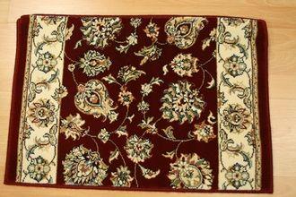 Best Burgundy Pattern Carpet Stair Runner Shadows Sha07 400 x 300