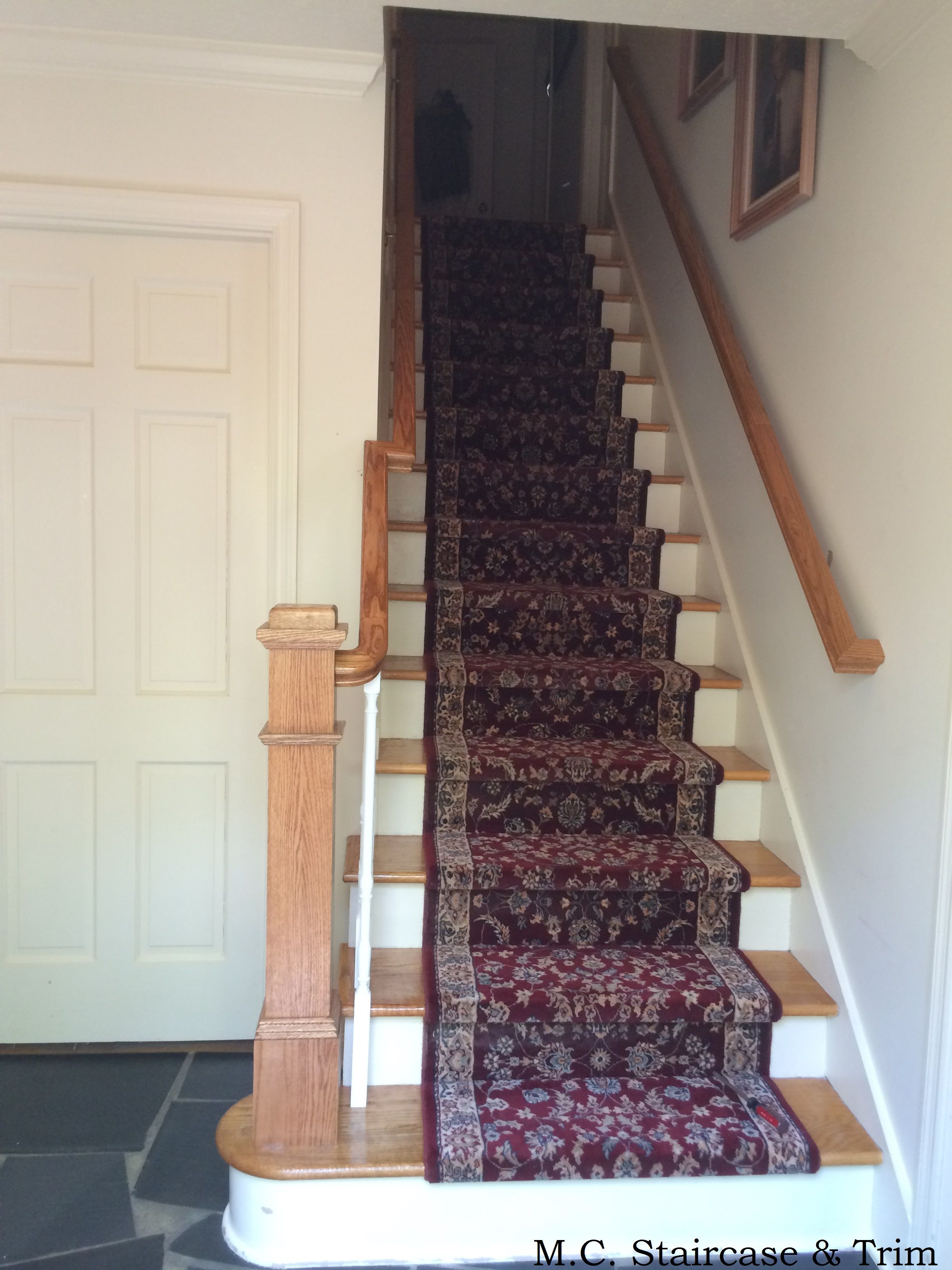 Newel Post Upgrade By M C Staircase Trim Replacement Of Volute