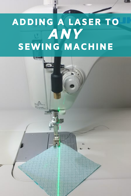 Adding a laser to ANY sewing machine! #sewing