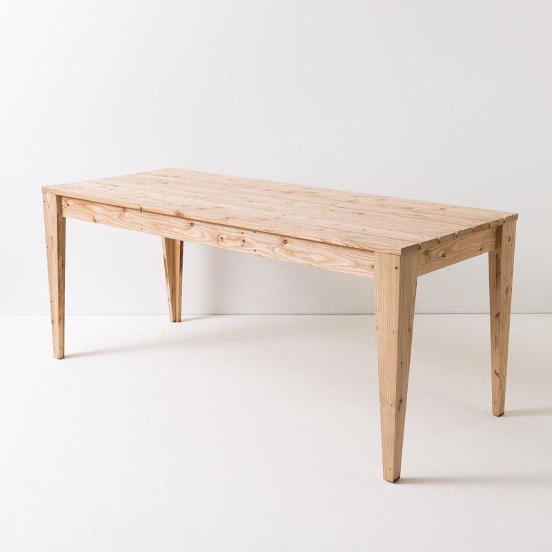 jardin en de de jardinMobilier mélèzeTable Table de K1FlTJc