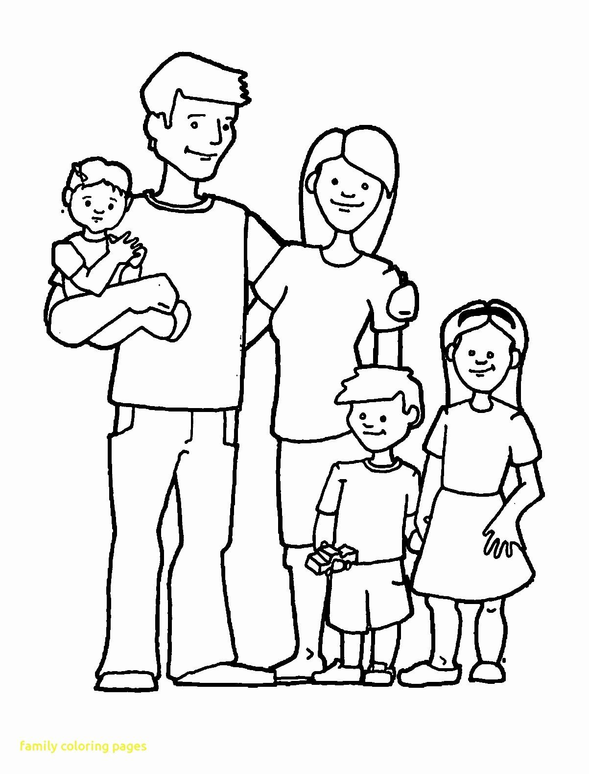 Black Family Coloring Pages Beautiful Family Coloring Pages