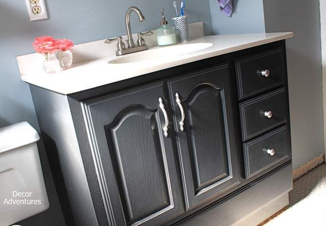 Things You Didn T Know You Can Paint By Decor Adventures Paint Makeover Budgetdecor Painted Vanity Bathroom Bathroom Vanity Decor Bathroom Vanity Makeover