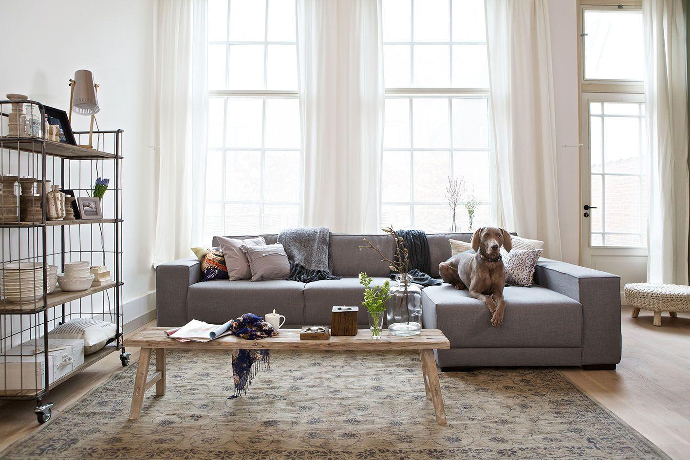 BePureHome hoekbank Neat grijs - Warme woonkamer | Pinterest ...