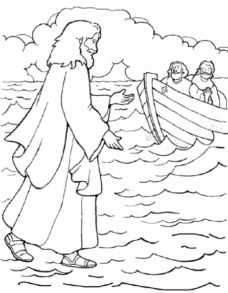 The Best peter walks on water coloring page - http://coloring ...