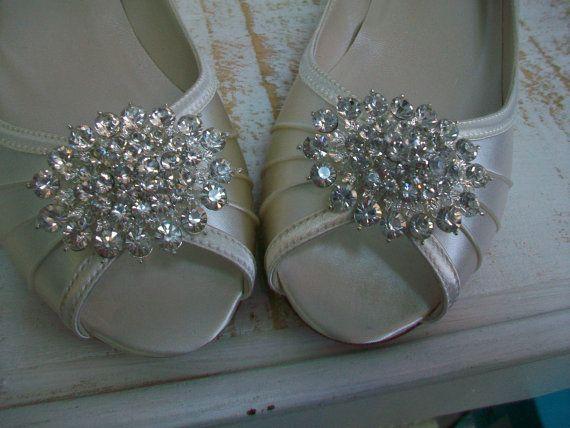 1 Inch Wedge Wedding Shoes Bridal Badgley Mischka By Parisxox Wedding Shoes Wedge Wedding Shoes Wedding Heels