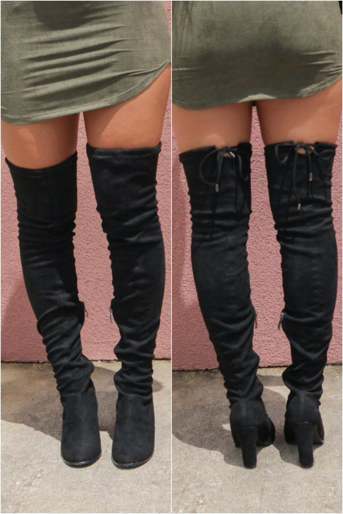 4e5b712a1964 These chic over the knee boots feature a soft vegan suede material ...