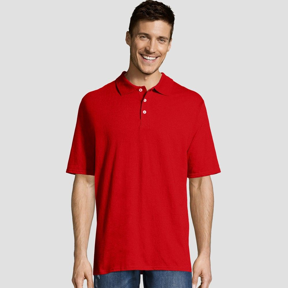 2c78b09ab The Hanes Men's X-Temp Jersey Polo Shirt is designed to keep you cool and  dry all day long. FreshIQ Advanced Odor Protection technology fights  odor-causing ...