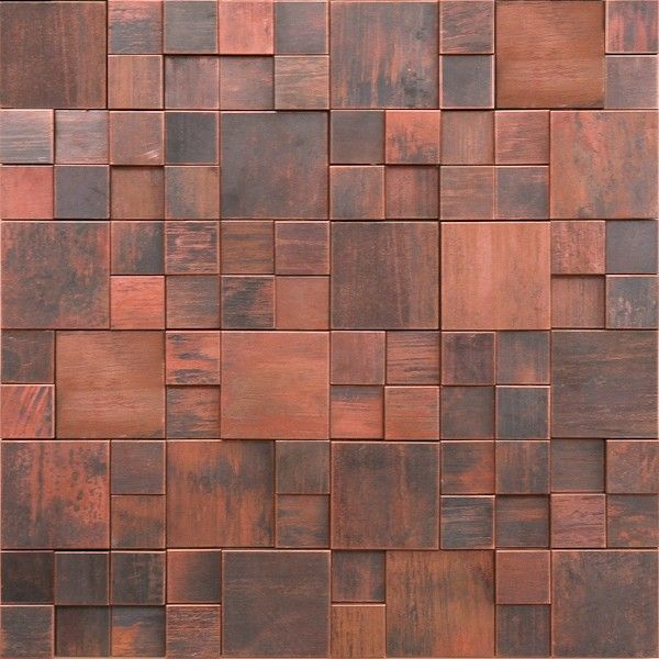 metal mosaic tile backsplash antique copper tile 3d