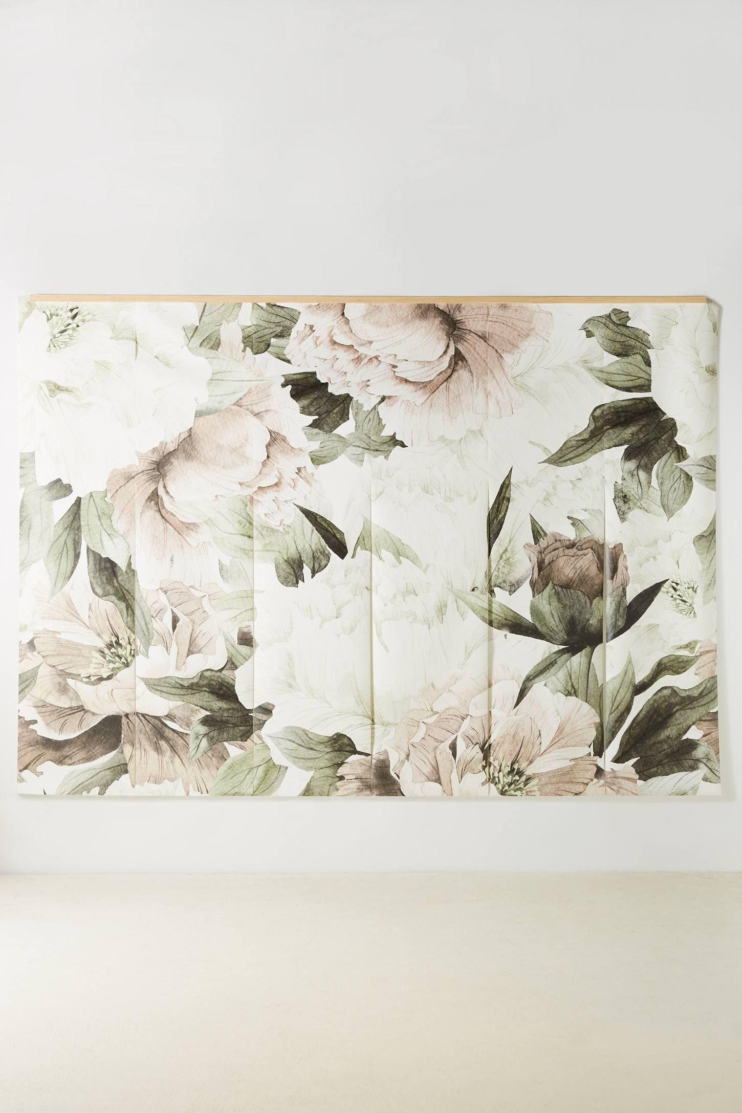 Blush Bouquet Mural Decor, Blush bouquet, Unique wallpaper