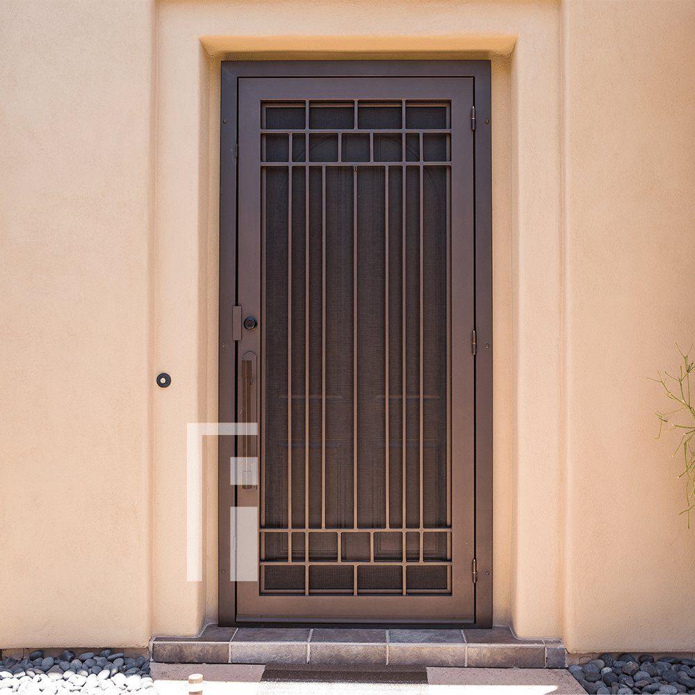 Penasco Iron Security Door First Impression Ironworks Iron Security Doors Security Door Design Grill Door Design