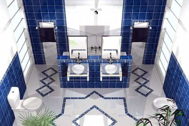 21 Modern Interior Decorating Ideas Bringing Stylish Blue Color Shades In 2020 Bathroom Tile Inspiration Blue Bathroom Tile Tile Bathroom