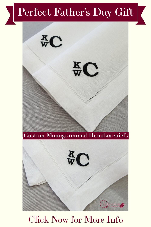 Men/'s Personalised Handkerchiefs x 3
