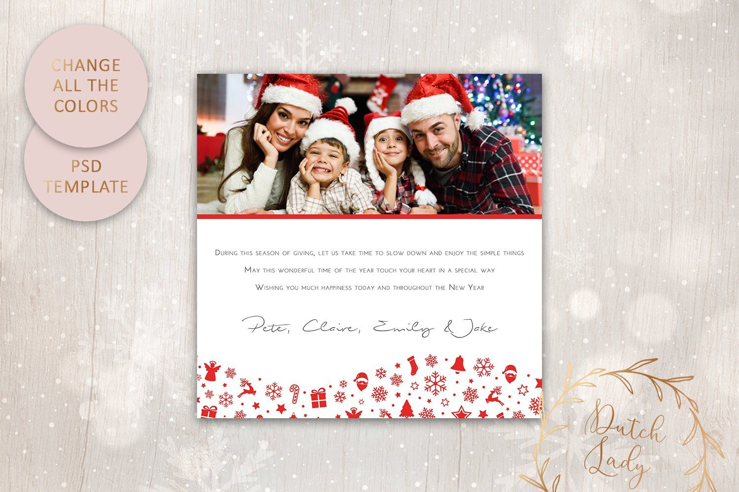 Psd Christmas Card Template 7 Christmas Card Template Photo Card Template Card Template