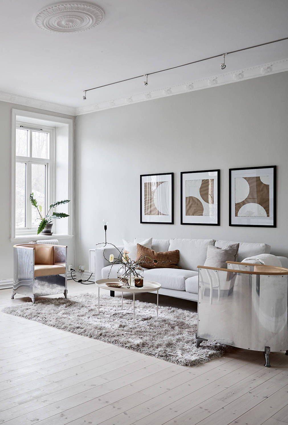 a warm greige home via coco lapine design blog - Moderne Wohnzimmerlampen