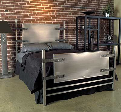 industrial boys room bed idea and brick wall (this is what i need
