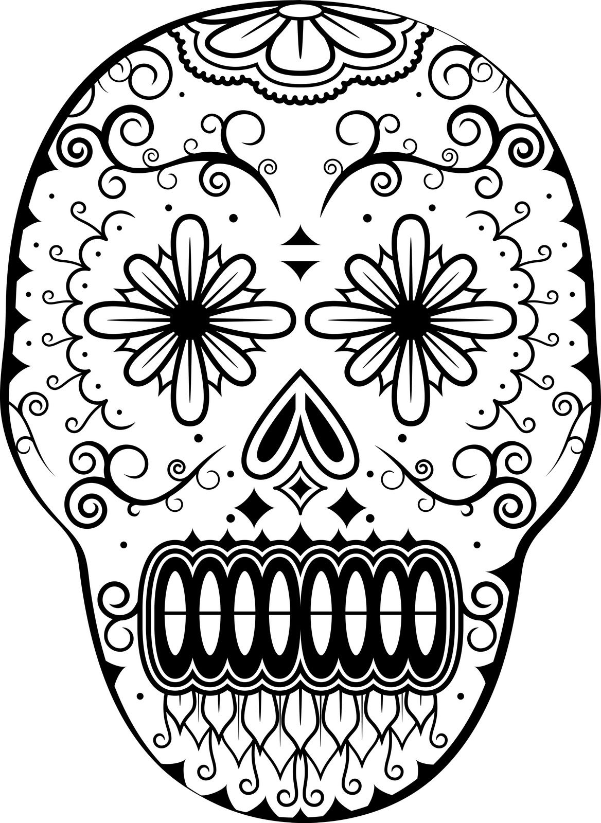 Day of the dead coloring page adult coloring therapy for All souls day coloring pages