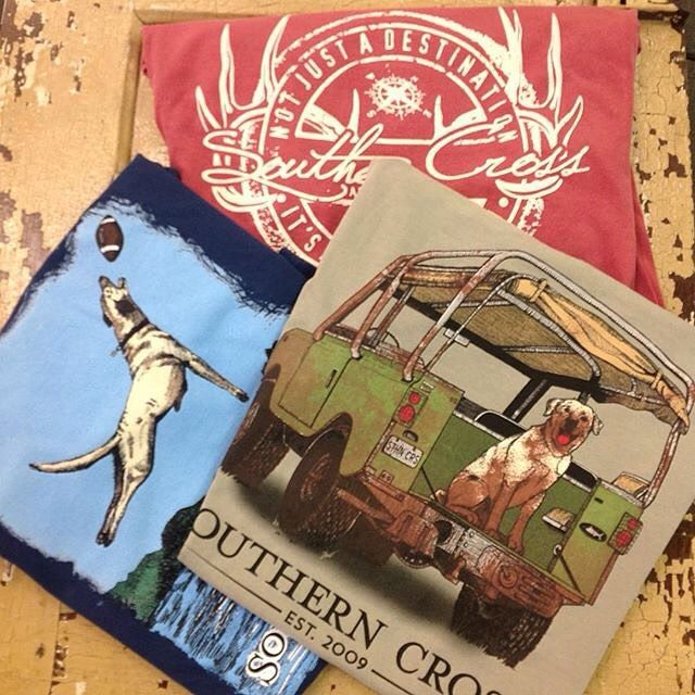 A few of our FAVES for Fall just arrived @buttonsandbowsbtq !! #WeLoveOurRetailers #fall #footballseason #puppies #mud #deer #StealMyBoyfriendsTees #love #wiw #southerncross #southerncrossapparel #southerncrossapparelgirls