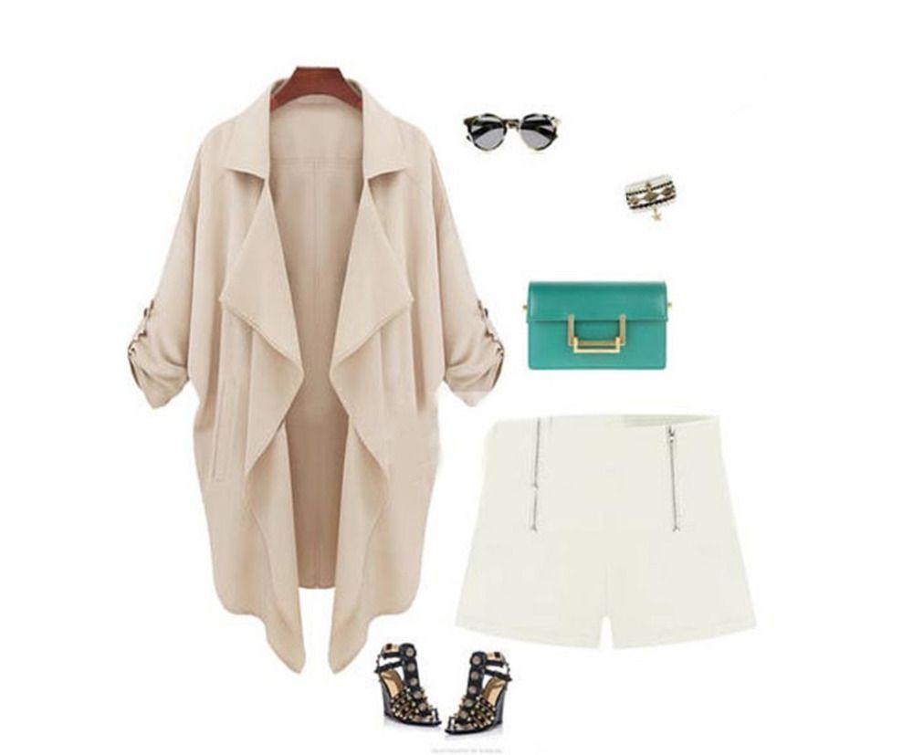 Luxury Celeb Knit Parka Trench Windbreaker Jacket Cardigan Coat Outwear Blazer