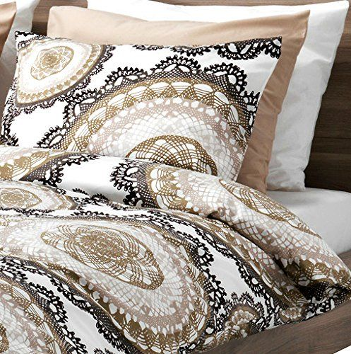 Amazon Com Lyckoax Duvet Cover And Pillowcase S White Brown Full Queen Double Queen Ikea Duvet Cover Girly Bedding Medallion Duvet French Style Bed