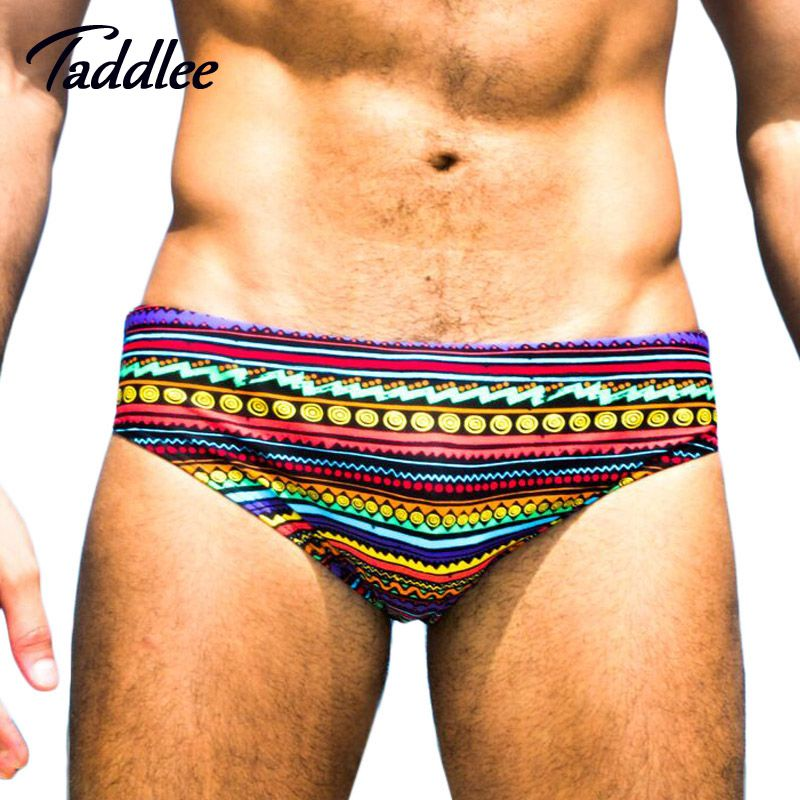 Taddlee Mens Swimwear Boxer Cut Swim Brief Bikini Trunks Board Shorts Swimsuits