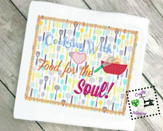 Kitchen Embroidery Design   Kitchen Applique Design   Embroidery Saying    Baking Applique Design   Cooking
