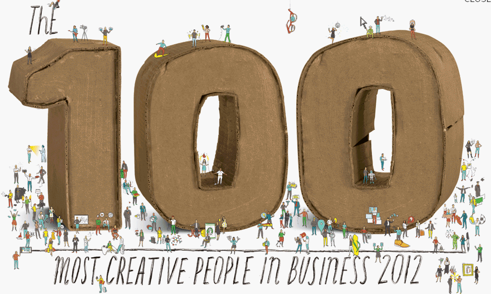 Always one of our favorite lists - http://www.fastcompany.com/most-creative-people/2012