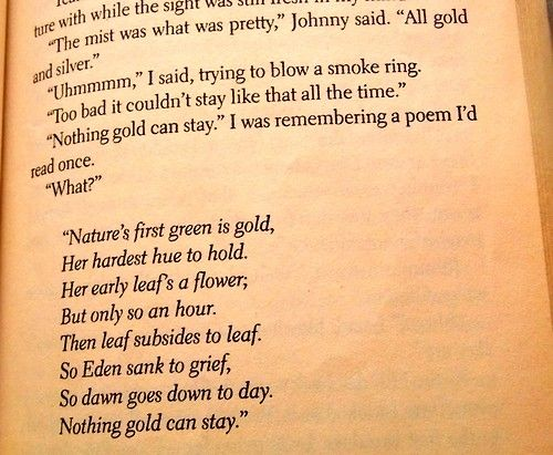 poems like nothing gold can stay