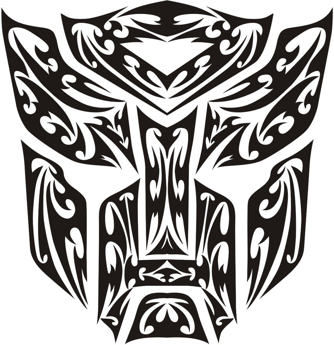Tribal transformer logo welcome to cybertron park pinterest this is my designed for my pick up front bonnet transformer autobot tribal logo biocorpaavc