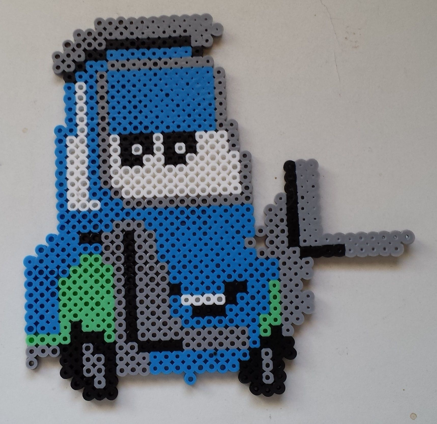 Week 9, Day 58, Disney, Guido from Cars  Perler Beads 365