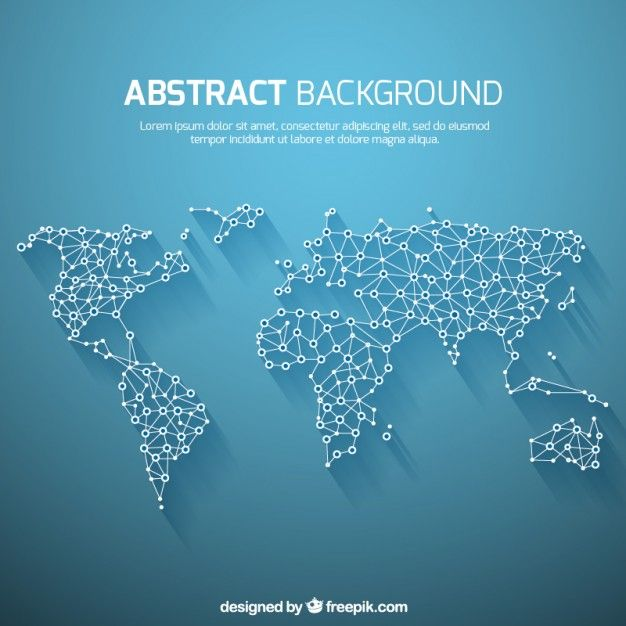 World map background in abstract style free vector projects to try world map background in abstract style free vector gumiabroncs Gallery