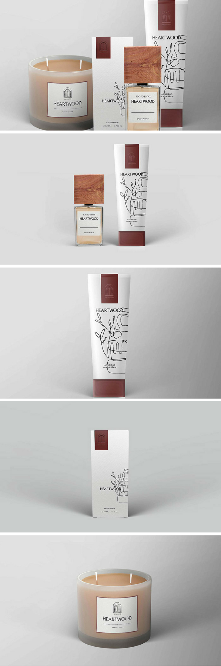 New box truck heartwood manufacturing - Heartwood Candle Fragrance Cream Packaging Designed By Kate Haas