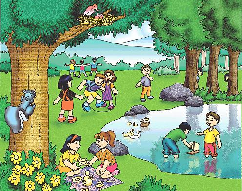 Cuidado De La Naturaleza Para Niños Ap Spanish Painting Character
