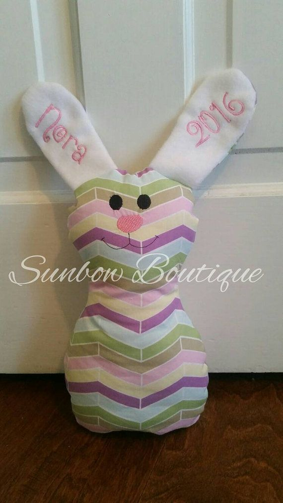 Check out this item in my Etsy shop https://www.etsy.com/listing/267268183/one-of-a-kind-personalized-bunny-perfect