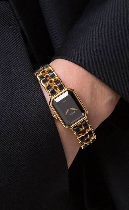 Chanel Vintage Chanel Première Rock Chain Bracelet Watch nqhxn