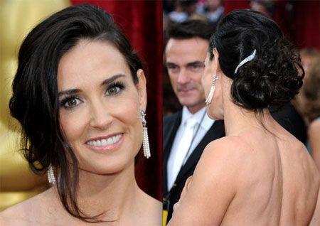 Loose Updo of Demi Moore
