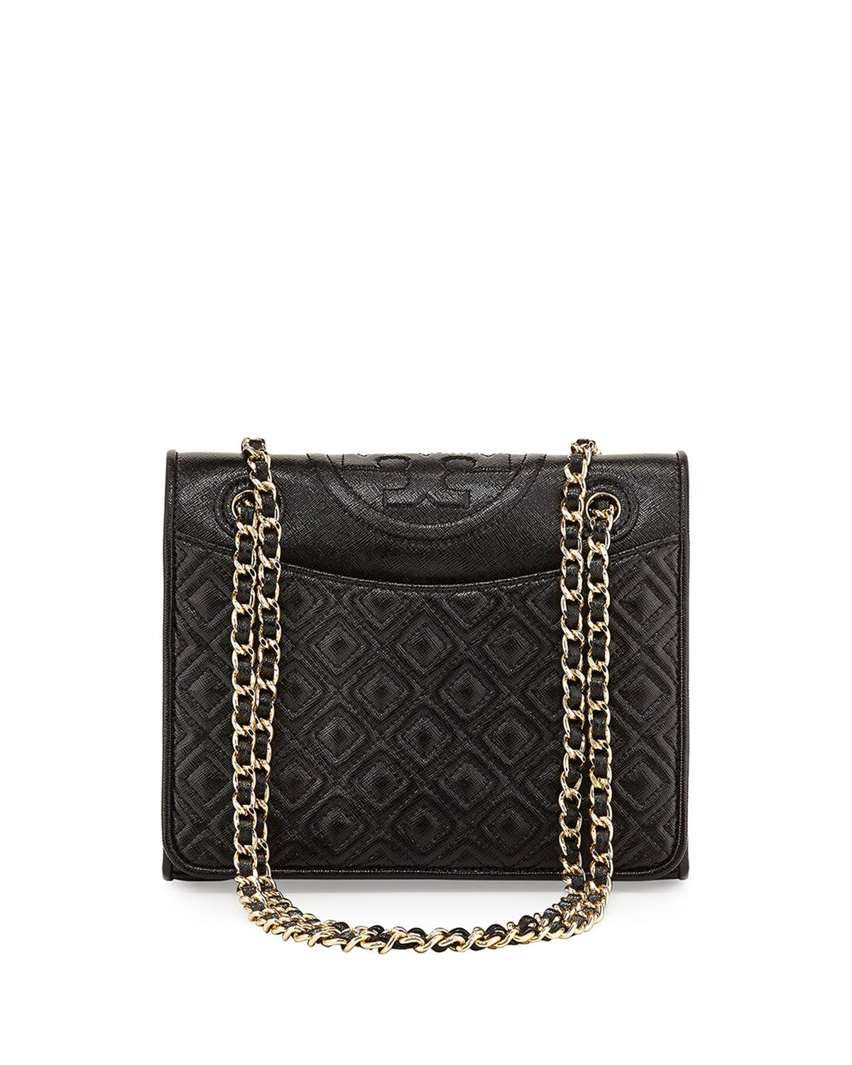 b423ce638ec Fleming Medium Quilted Saffiano Leather Bag Black in 2019 | *Neiman ...