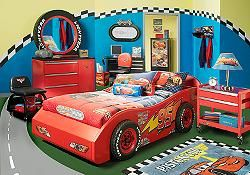 Enchanting Modern Racing Car Bed Frames With Red Cabinetry Like ...