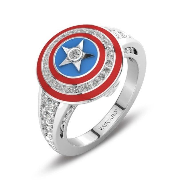 For The Awesome Geeky Couples Who Love Fantasy Fictions And Superheroes Sagas Here Are A Few Options Of Movie Inspire Marvel Jewelry Shield Ring Rings For Men