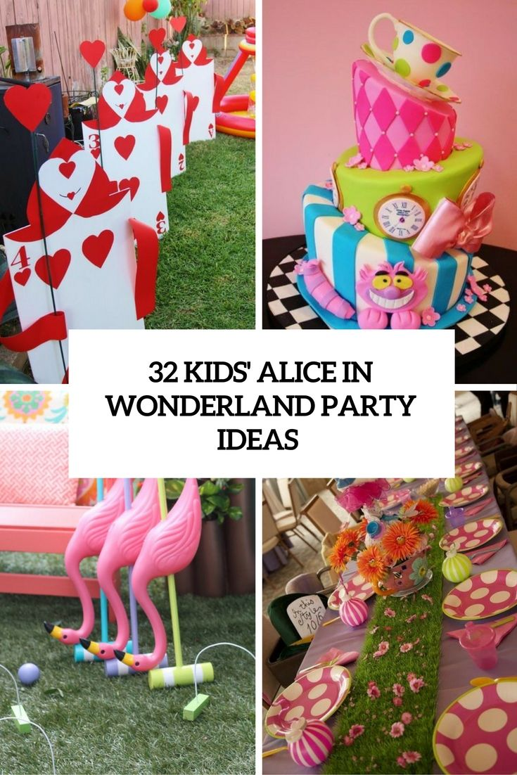 32 Kids Alice In Wonderland Party Ideas Cover Shelterness
