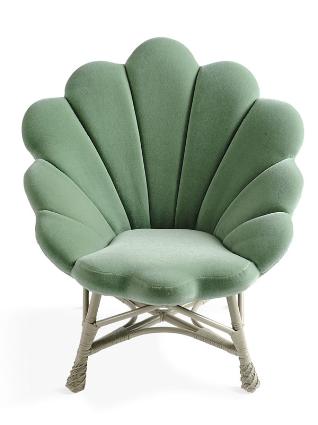 Shell Like Upholstered Venus Chair Modern Lounge Chairs