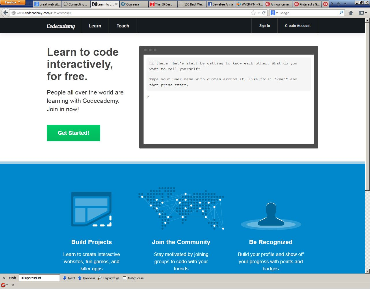 Learn to Code for Free Codecademy Best coding