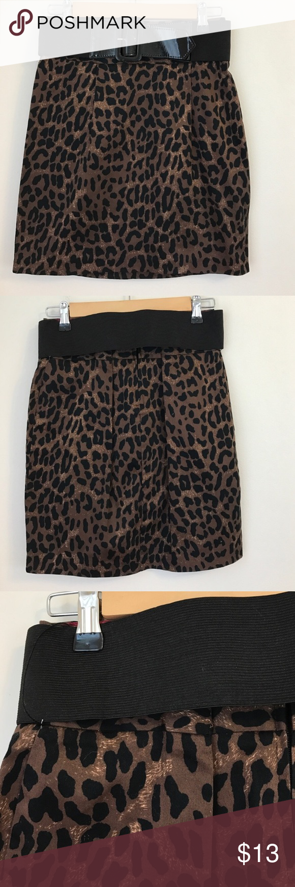 Belted Animal Print Skirt Belted Animal Print Skirt - Back Zip Closure - Excellent Used Condition - Offers Welcomed Maurices Skirts