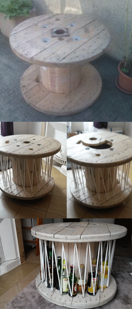 Table Bar Touret From That To This Little And Rolling Table Bar Deco Diy Deco Table Basse Touret