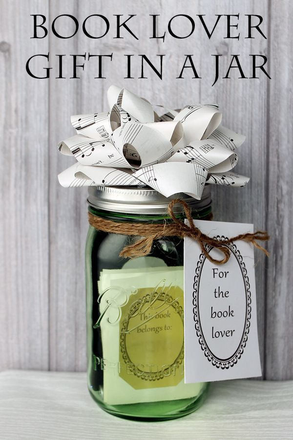 Book Lover Gift In A Jar Book Lovers Gift Basket Jar Gifts Book Lovers Gifts