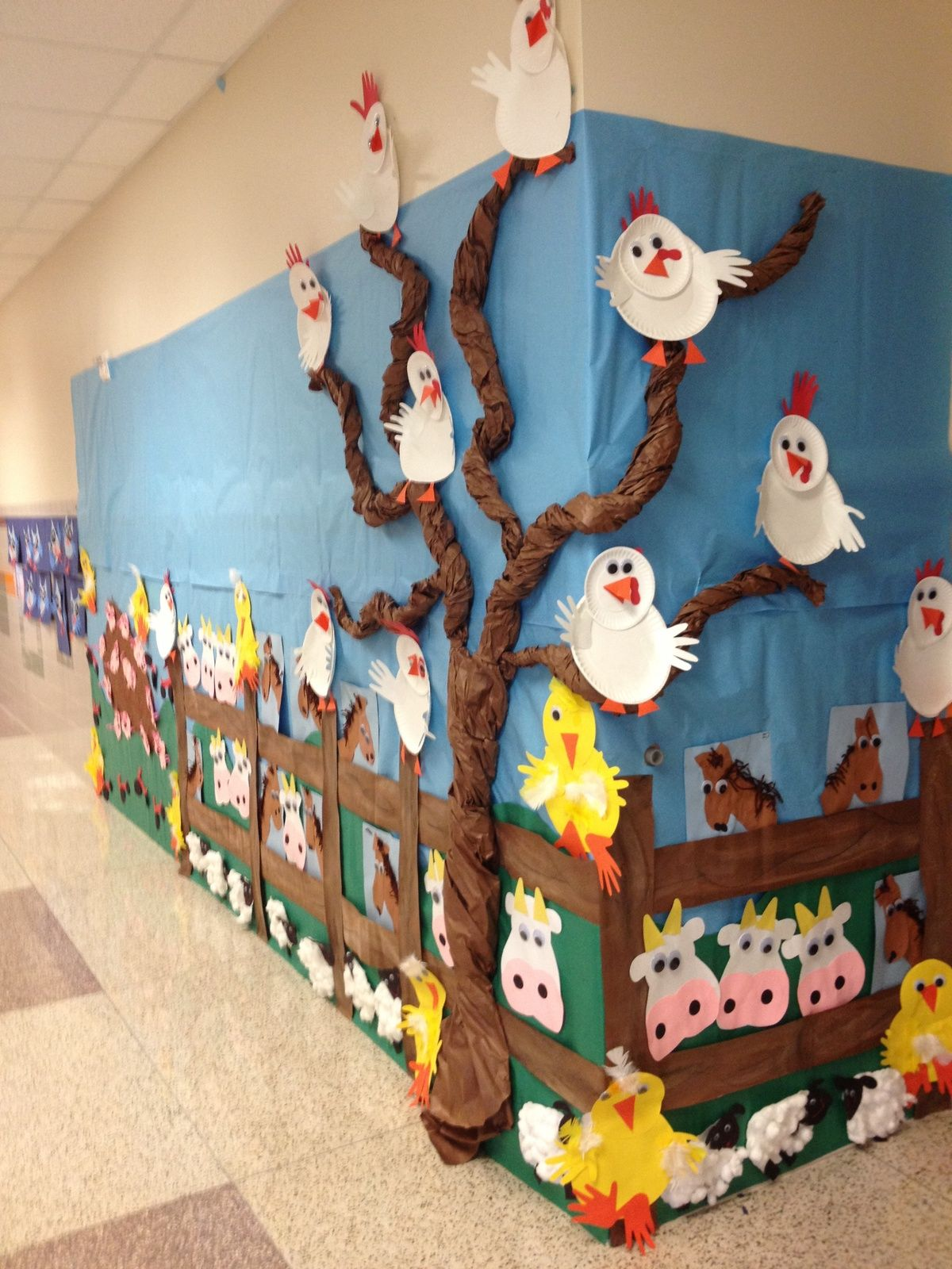 Chicken wall mural | Just For Kids | Pinterest | Granjas, Aula y ...