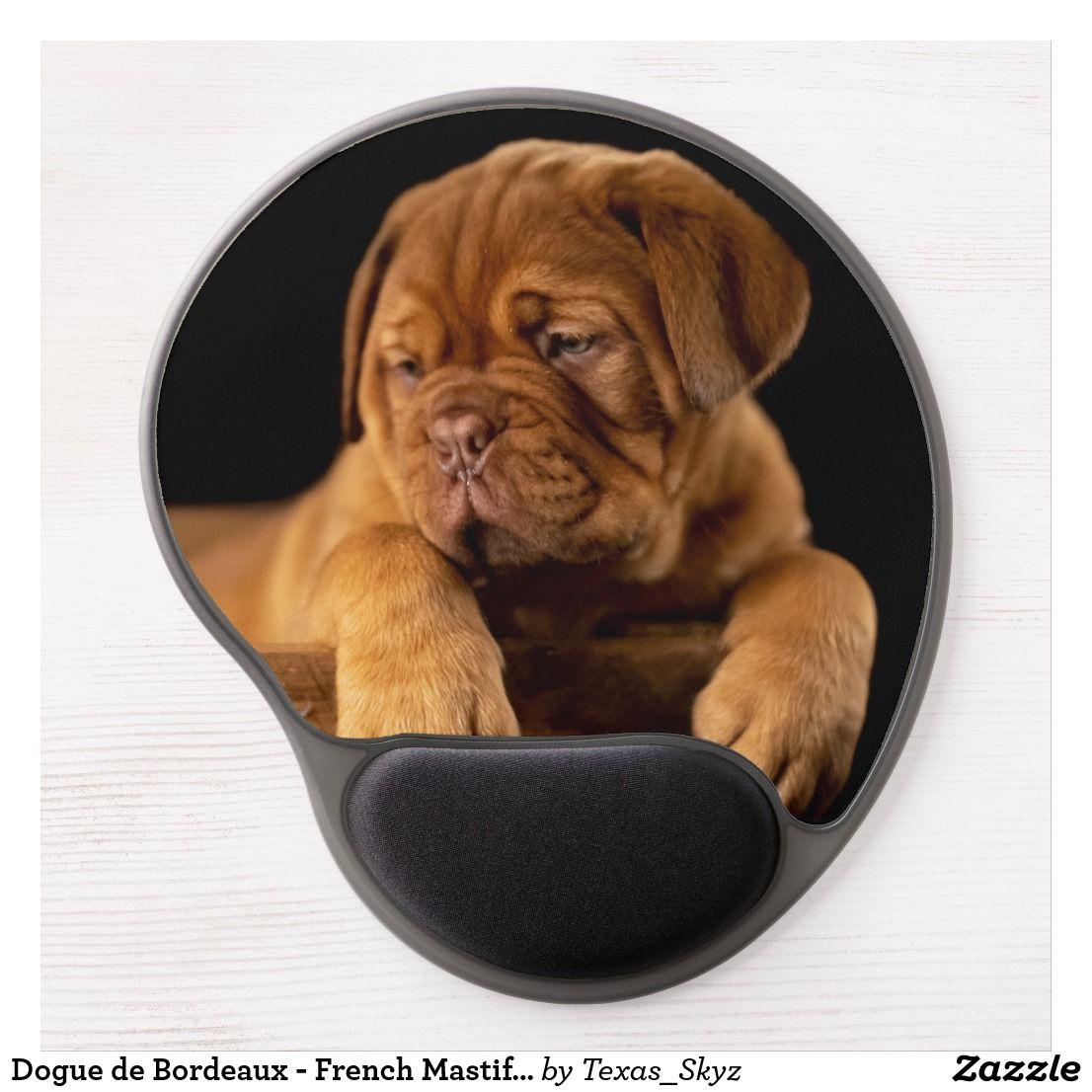 Dogue De Bordeaux French Mastiff Puppy Dog Gel Mouse Pad Zazzle Com French Mastiff Mastiff Puppies French Mastiff Puppies